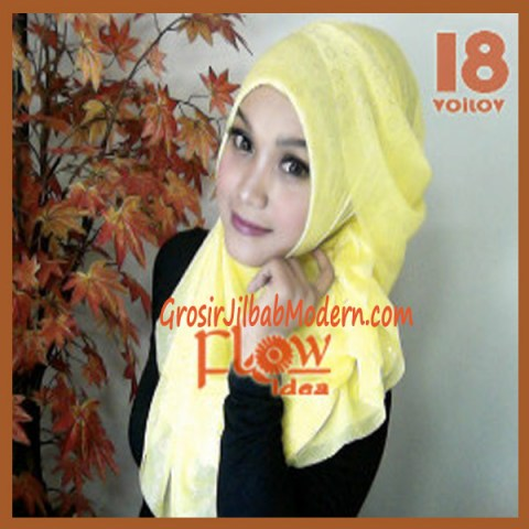 Jilbab Syria Voilov by Flow No 18 Kuning Muda