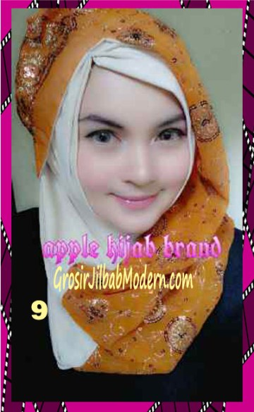 Jilbab Syrpash Instant Nicole Premium by Apple Hijab Brand No 9