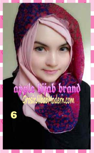 Jilbab Syrpash Instant Nicole by Apple Hijab Brand No 6