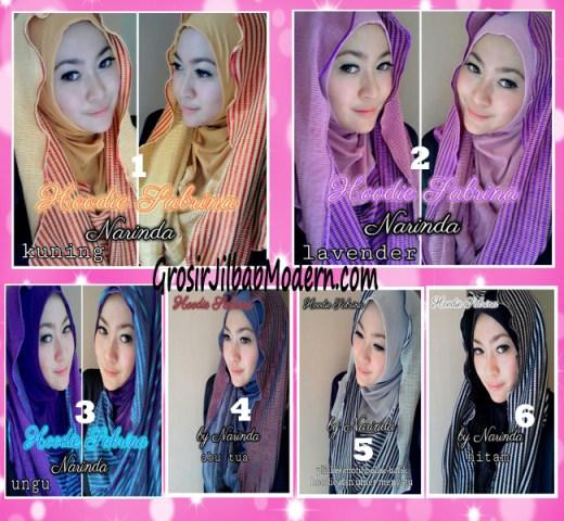 Jilbab Hoodie Bolak Balik Sabrina by Narinda Series