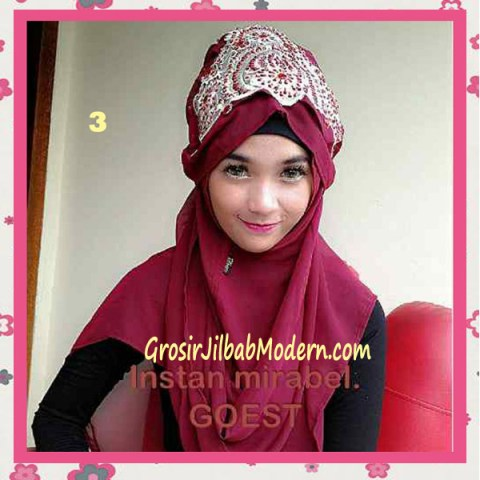 Jilbab Instant Mirabel Original by GOEST No 3 Marun
