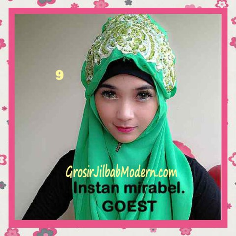 Jilbab Instant Mirabel Original by GOEST No 9 Hijau