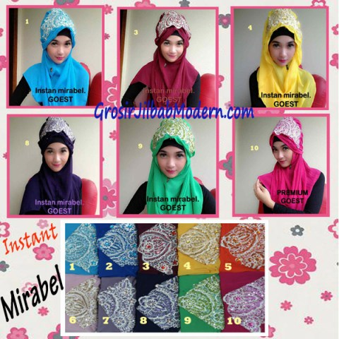 Jilbab Instant Mirabel Original by GOEST Series