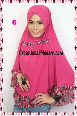 Jilbab Jumbo  Brokat Stephanie No 6 Pink Fanta