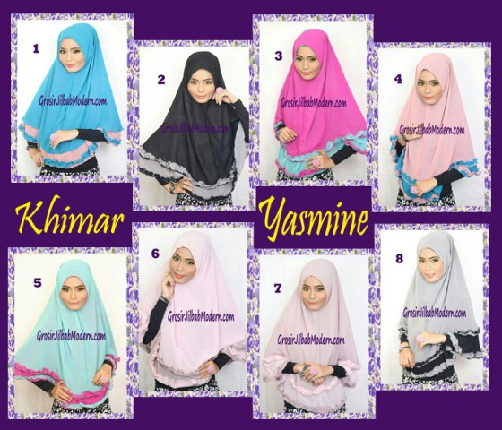 Jilbab Khimar Cantik Yasmine Series