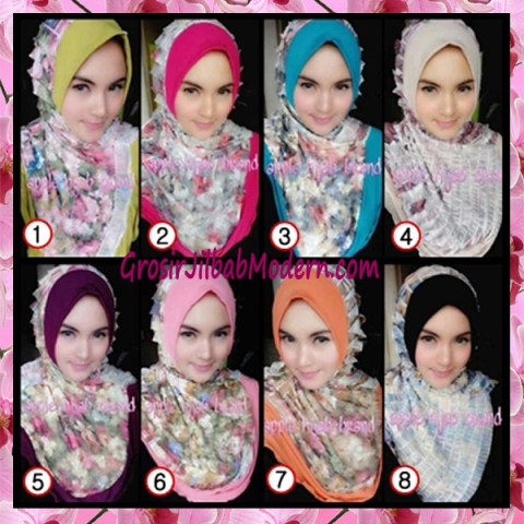 Jilbab Syria Annete by Apple Hijab Brand Unik Series