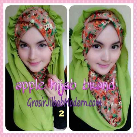 Jilbab Syria Hoodie Flowerist No 2 Light Green