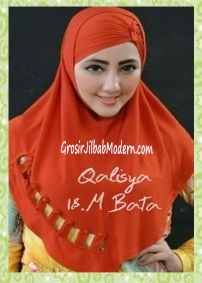 Jilbab Syria Modis Nuha Original By Qalisya No 18 Merah Bata