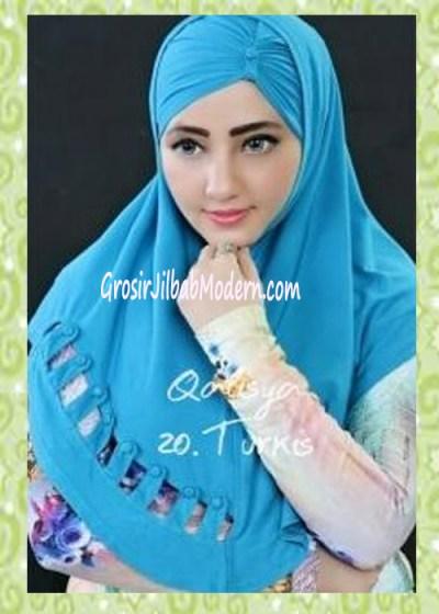 Jilbab Syria Modis Nuha Original By Qalisya No 20 Turkis