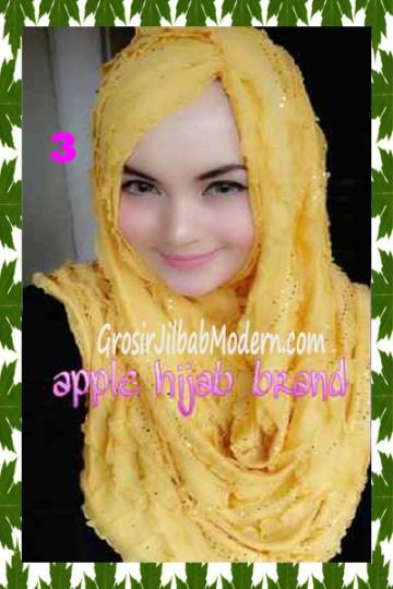 Jilbab Syrpash Aleeza Ruffle Sparkling No 3 Gold