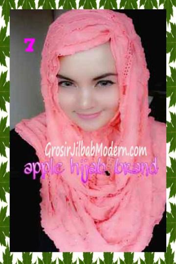 Jilbab Syrpash Aleeza Ruffle Sparkling No 7 Salem