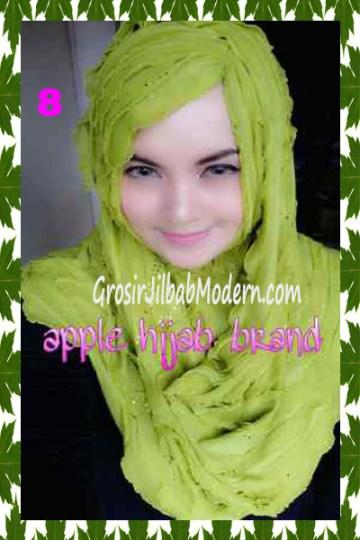 Jilbab Syrpash Aleeza Ruffle Sparkling No 8 Hijau