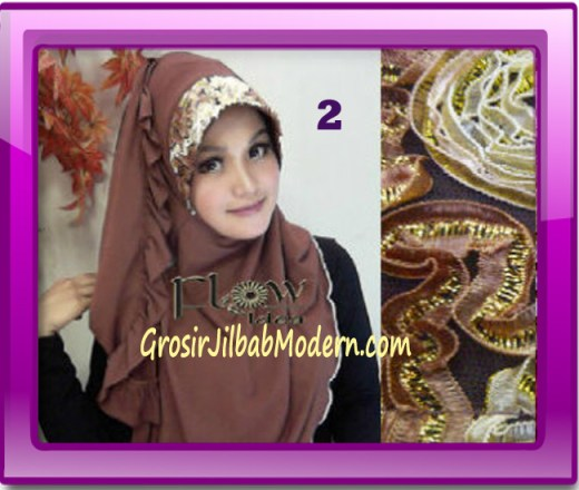 Jilbab Bergo Pet Maryam Original by FLOW Idea No 2 Coklat