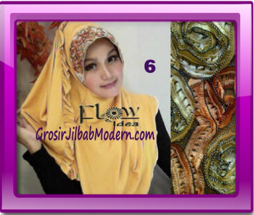 Jilbab Bergo Pet Maryam Original by FLOW Idea No 6 Kuning