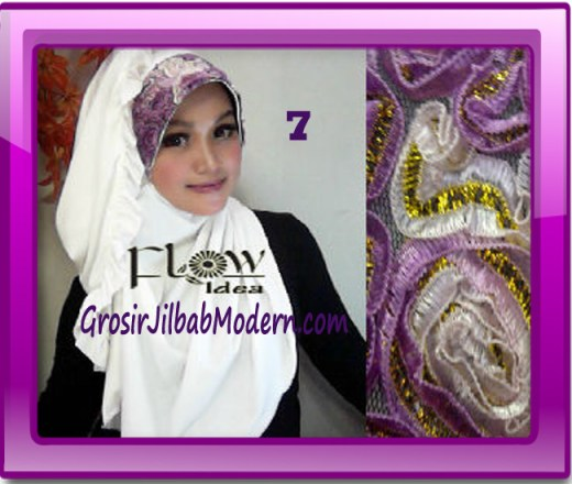 Jilbab Bergo Pet Maryam Original by FLOW Idea No 7 Putih