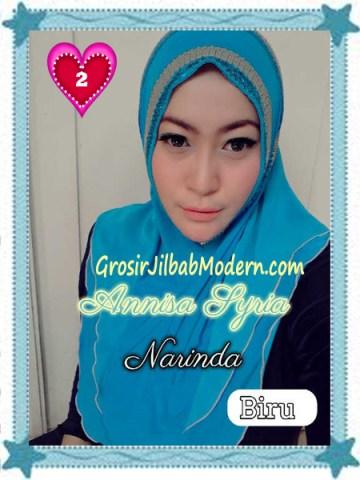 Jilbab Syria Annisa by Narinda Modis No 2 Biru