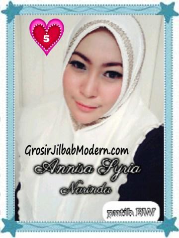Jilbab Syria Annisa by Narinda Modis No 5 Putih BW