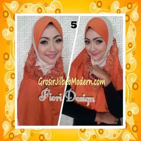 Jilbab Syria Daniah Cantik By Fiori Design No 5 Oren