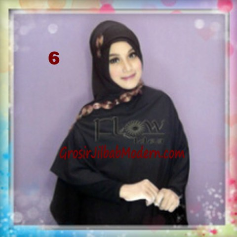 Jilbab Syria Jumbo Faizia Modis Original by FLOW Idea No 6 Hitam
