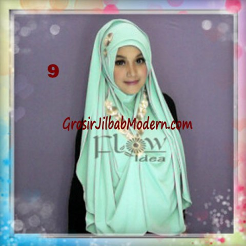 Jilbab Syria Jumbo Faizia Modis Original by FLOW Idea No 9 Hijau Muda