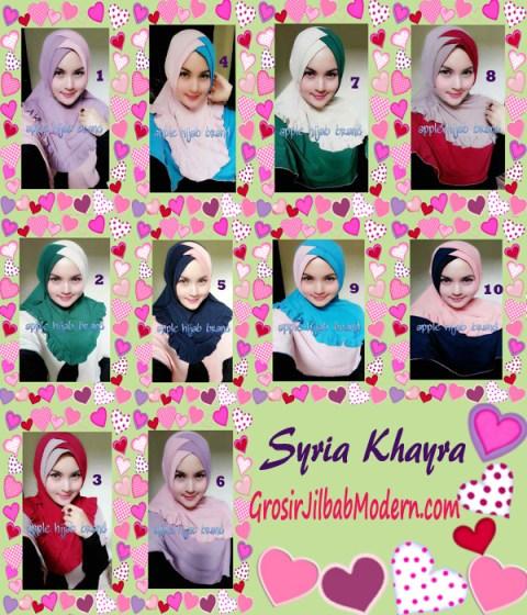 Jilbab Syria Khayra Stylish by Apple Hijab Brand Series
