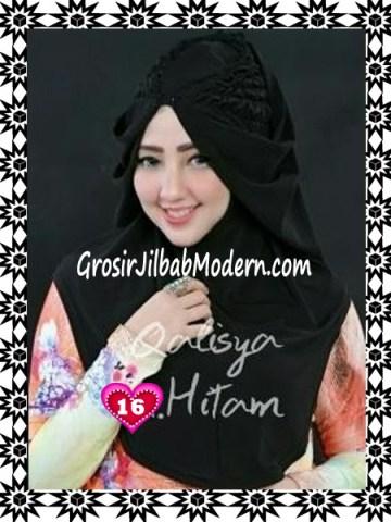 Jilbab Syria Mumtaz by Qalisya Modis dan Trendy No 16 Hitam