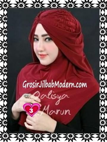 Jilbab Syria Mumtaz by Qalisya Modis dan Trendy No 3 Marun