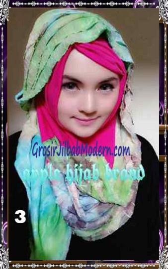 Jilbab Syrpash Claudia Frill  by Apple Hijab Brand No 3