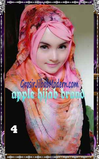 Jilbab Syrpash Claudia Frill  by Apple Hijab Brand No 4