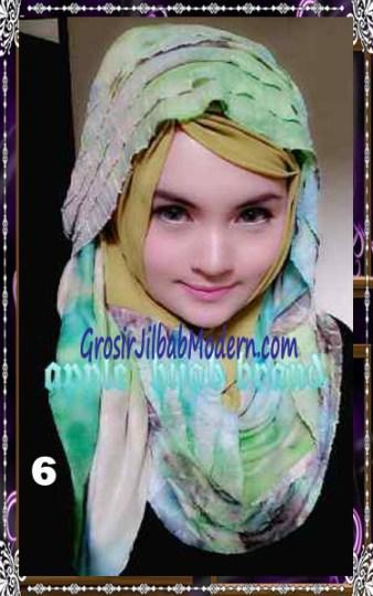 Jilbab Syrpash Claudia Frill  by Apple Hijab Brand No 6
