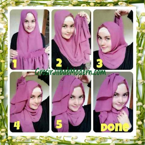 Jilbab Instant Aleeza Pasyir Crinkle By Apple Hijab Brand Cara Pakai Model 1