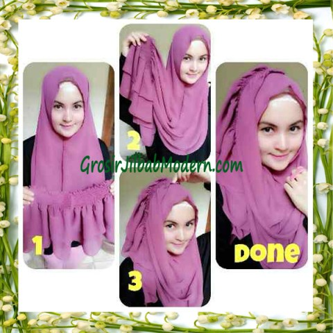 Jilbab Instant Aleeza Pasyir Crinkle By Apple Hijab Brand Cara Pakai Model 2