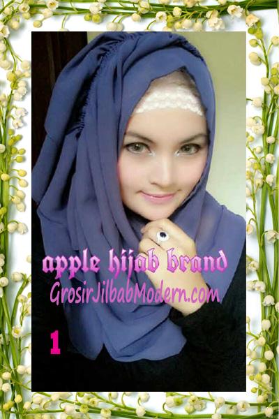 Jilbab Instant Aleeza Pasyir Crinkle By Apple Hijab Brand No 1