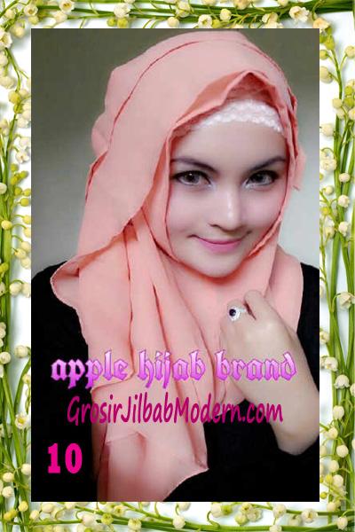 Jilbab Instant Aleeza Pasyir Crinkle By Apple Hijab Brand No 10