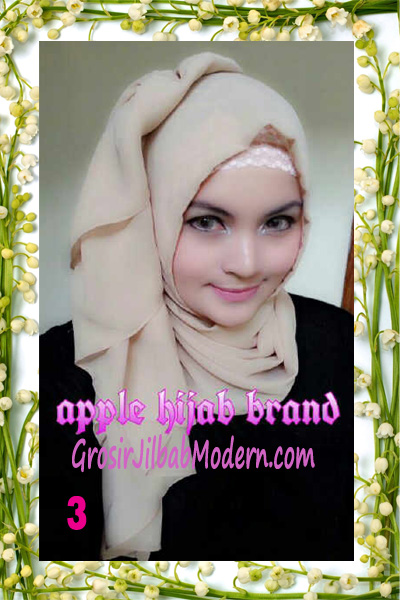 Jilbab Instant Aleeza Pasyir Crinkle By Apple Hijab Brand No 3