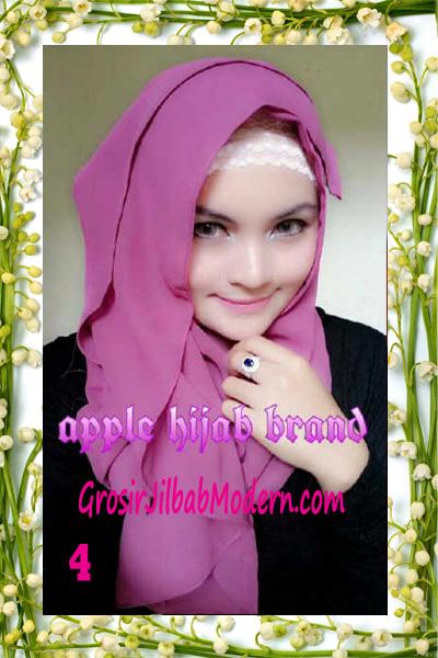 Jilbab Instant Aleeza Pasyir Crinkle By Apple Hijab Brand No 4