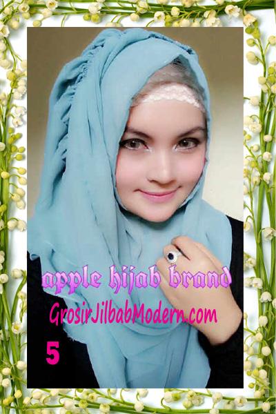 Jilbab Instant Aleeza Pasyir Crinkle By Apple Hijab Brand No 5
