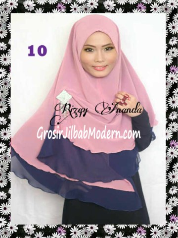 Jilbab Instant Khimar Alena Polos Seri 2 No 10