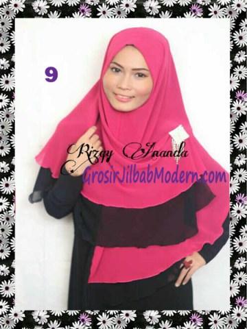 Jilbab Instant Khimar Alena Polos Seri 2 No 9