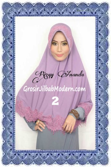 Jilbab Khimar Cantik Latifah Modis dan Syar'i No 2 Lavender