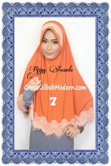 Jilbab Khimar Cantik Latifah Modis dan Syar'i No 7 Sunkist