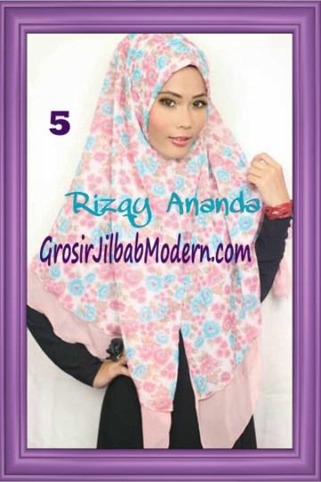 Jilbab Khimar Miriam Motif Bunga  Cantik No 5