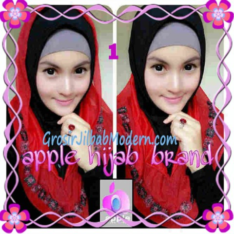 Jilbab Pesta Syria Hoodie Safeea Modis by Apple Hijab Brand No 1 Hitam Combine Merah