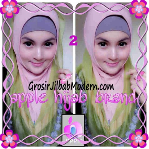 Jilbab Pesta Syria Hoodie Safeea Modis by Apple Hijab Brand No 2 Dusty Combine Hijau Daun
