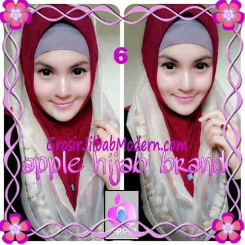 Jilbab Pesta Syria Hoodie Safeea Modis by Apple Hijab Brand No 6 Marun Combine Coksu