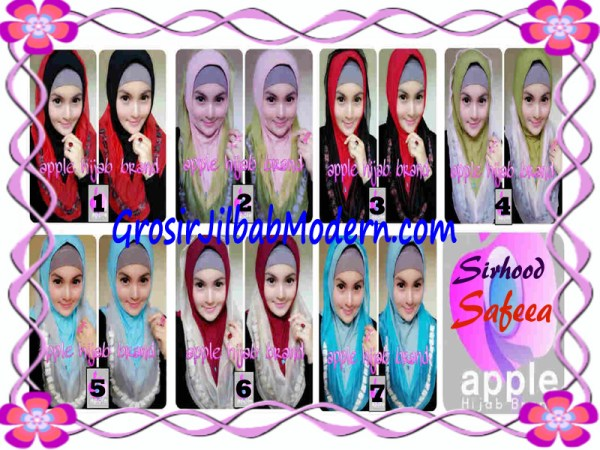 Jilbab Pesta Syria Hoodie Safeea Modis by Apple Hijab Brand Series