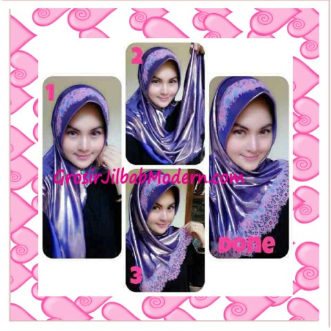 Jilbab Pesta Syria Inara Glowing by Apple Hijab Brand - Cara Pemakaian 2