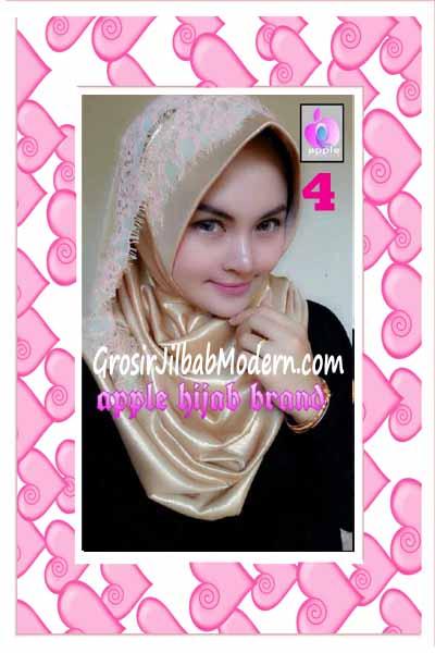 Jilbab Pesta Syria Inara Glowing by Apple Hijab Brand No 4 Gold