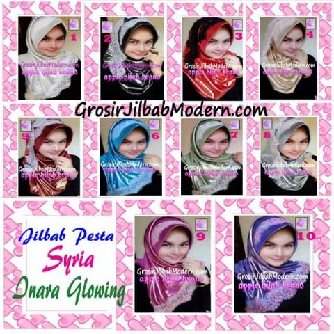 Jilbab Pesta Syria Inara Glowing by Apple Hijab Brand Series