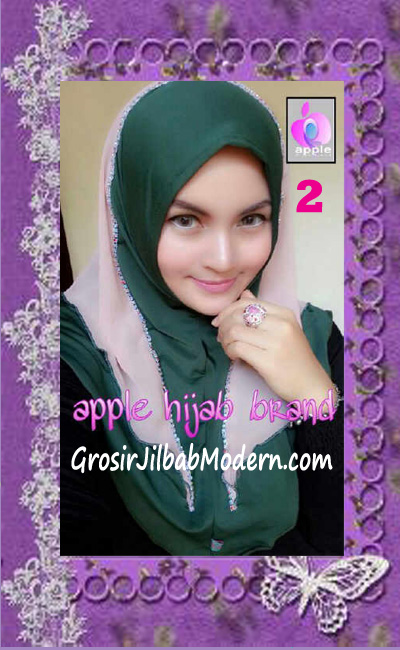 Jilbab Syria Cantik Zhafrina Diamond Original by Apple Hijab Brand No 2 Hijau